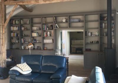 Bibliothèque bois sur mesure Dordogne